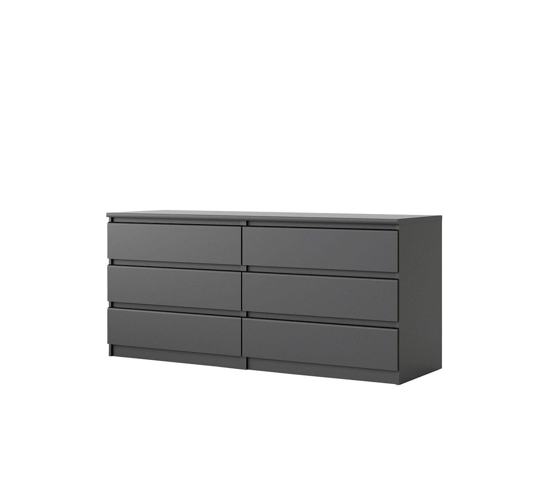 Commode 2x3 Tiroirs Best Lak Noir Mat Appartment Pinterest