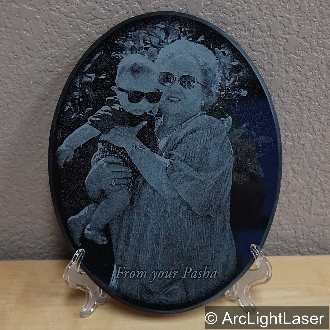 A Beautiful Memory For A Sweet Grandma S 90th Birthday I Love Creating Special Designs For Customers We Have So Photo Engraving Black Marble Laser Engraving
