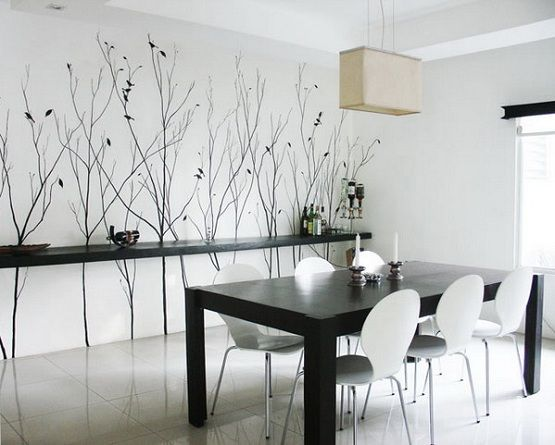 Wall Murals As Dining Room Wall Art Ideas Home Interiors Dining Room Wall Decor Dining Room Wall Art Dining Room Walls