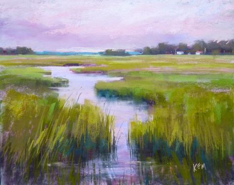 Tip for Suggesting Objects in a Landscape Painting, painting by artist Karen Margulis