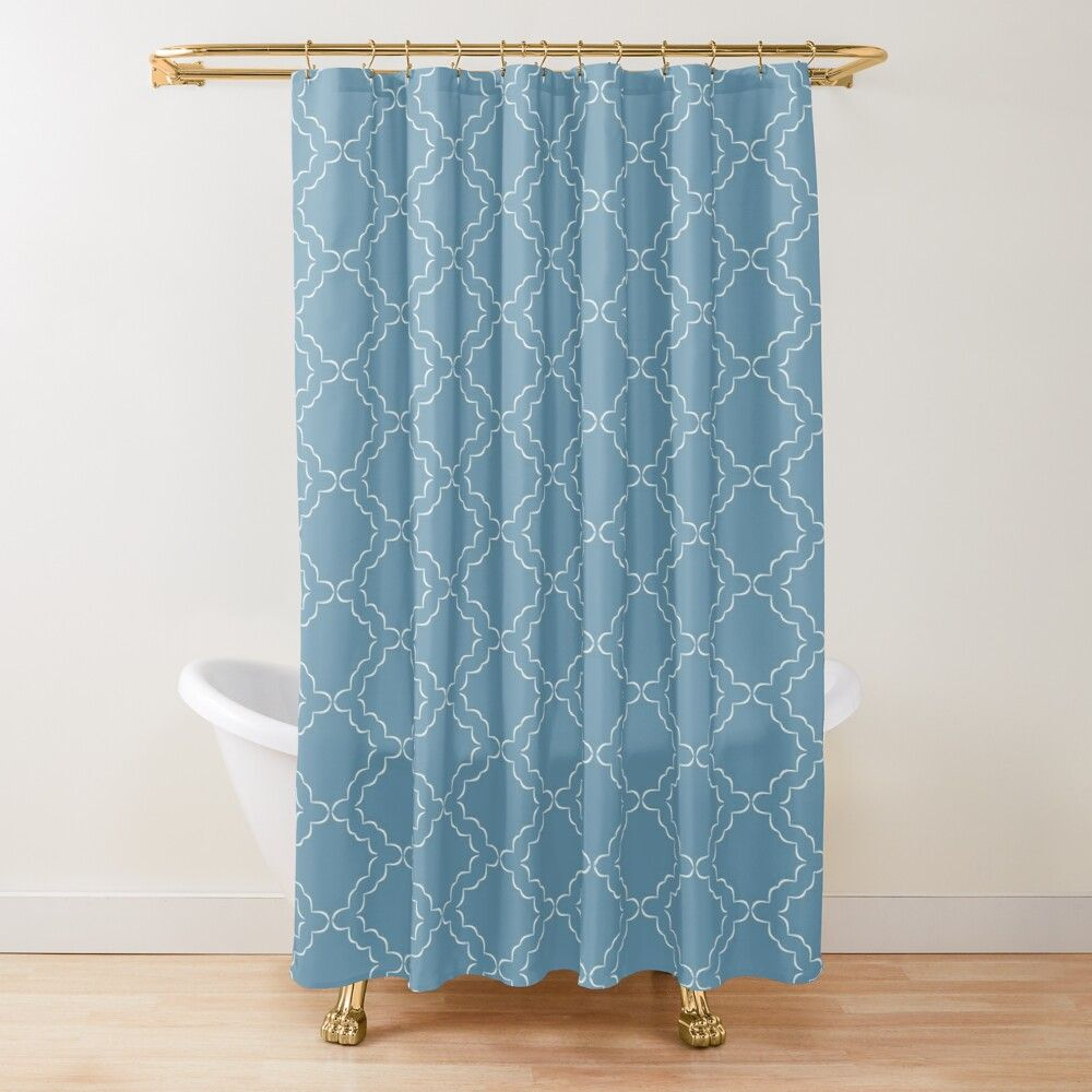 Teal Ocean Best Decorative Moroccan Shower Curtain By Prometa In
