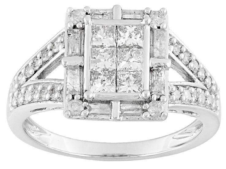 Diamond 10k White Gold Ring 1 00ctw Kdg153 White Gold Rings Gold Rings White Gold