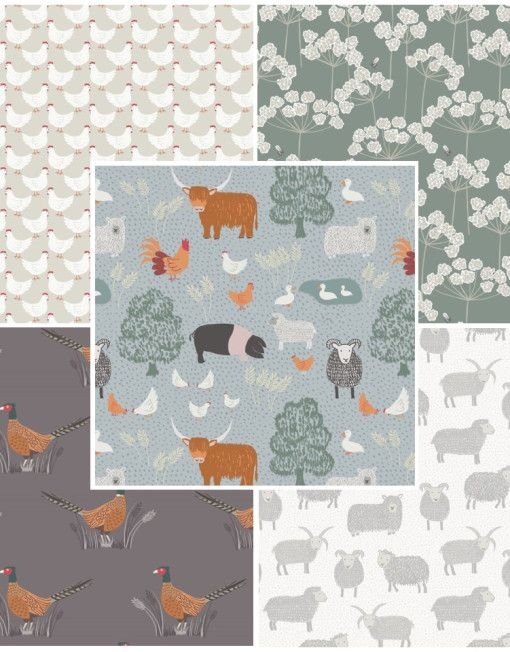 Country Life Fabric Bundle 1 Fat Quarter Pack