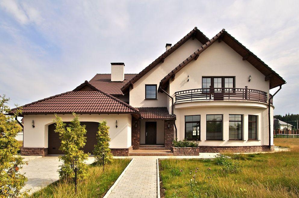 Загородные дома с гаражом (44 фото) | Дом, Красивые дома, Депо