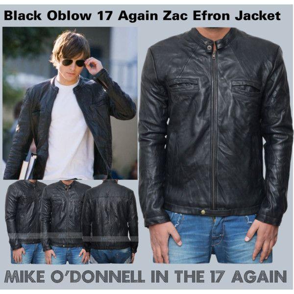 17 Again Jacket Zac Efron Oblow Leather Jacket Free Shipping Leather Jacket Jackets Zac Efron