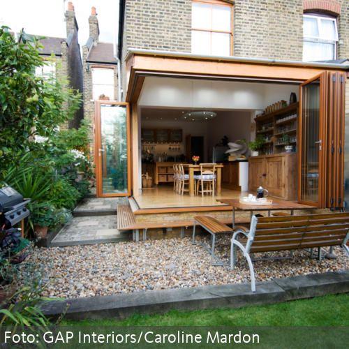Glasfalttür zum Garten Wintergarten einrichten, Design
