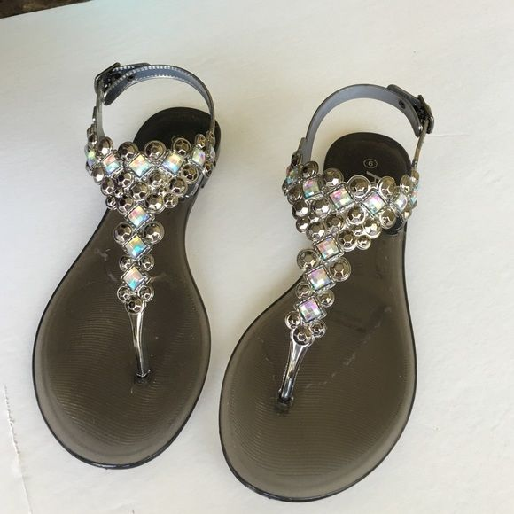 Black jelly sandals New .. True to size .. No trades ... No holds ... Firm on price unless bundling Shoes Sandals