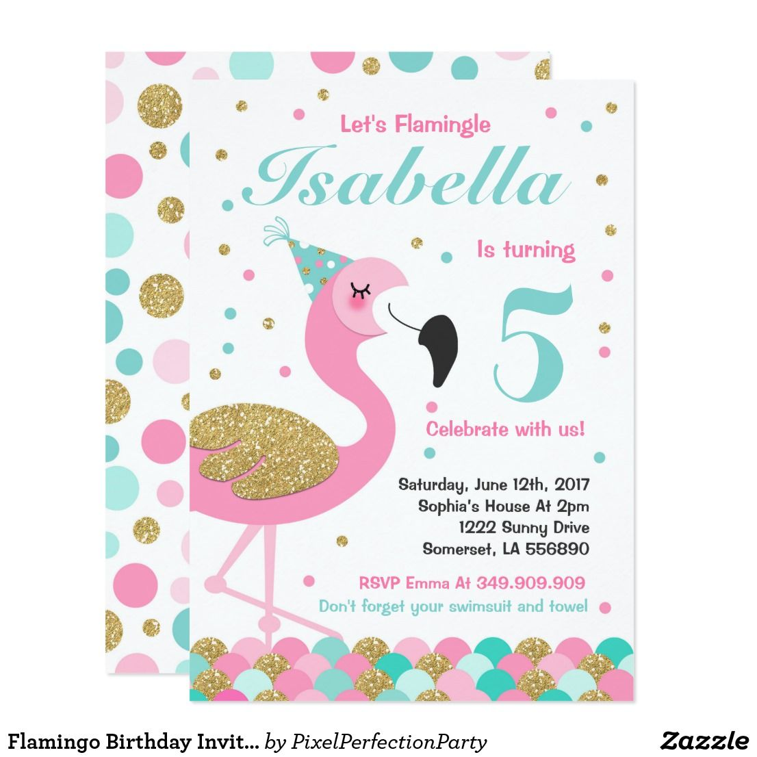 flamingo geburtstag karten einladung einladungskarte vorlage party karte einladungskarten. Black Bedroom Furniture Sets. Home Design Ideas