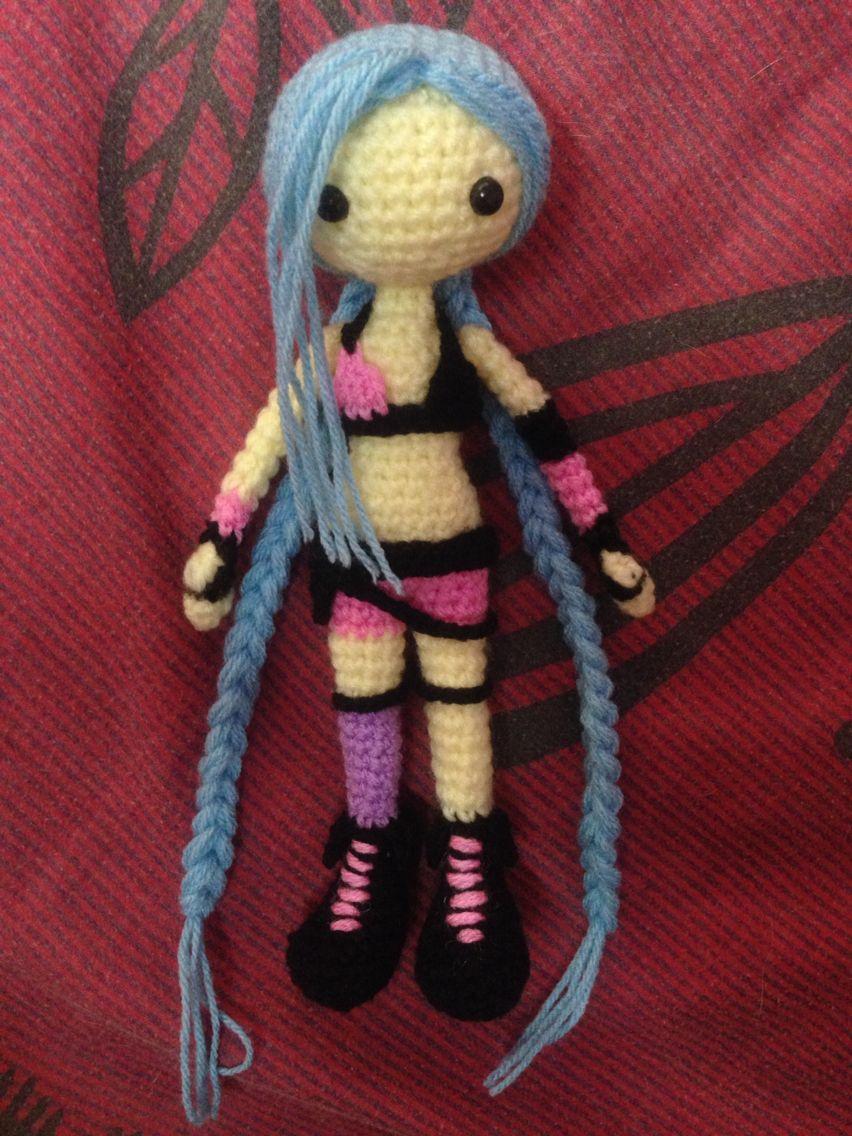 jinx league of legend amigurumi #Jinx #Crochet #Amigurumi   Crochet ...