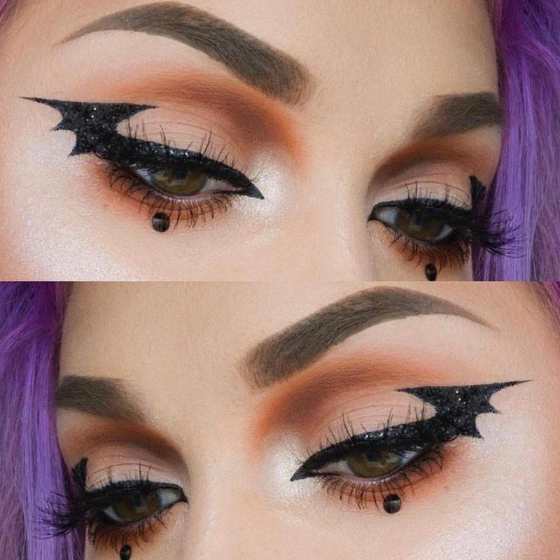 Halloween Inspired Eye Makeup.Bat Eyeliner Is The Answer To Your Last Minute Halloween Makeup Prayers Makeup Com By L Oreal Beautiful Halloween Makeup Halloween Eye Makeup Halloween Makeup Inspiration