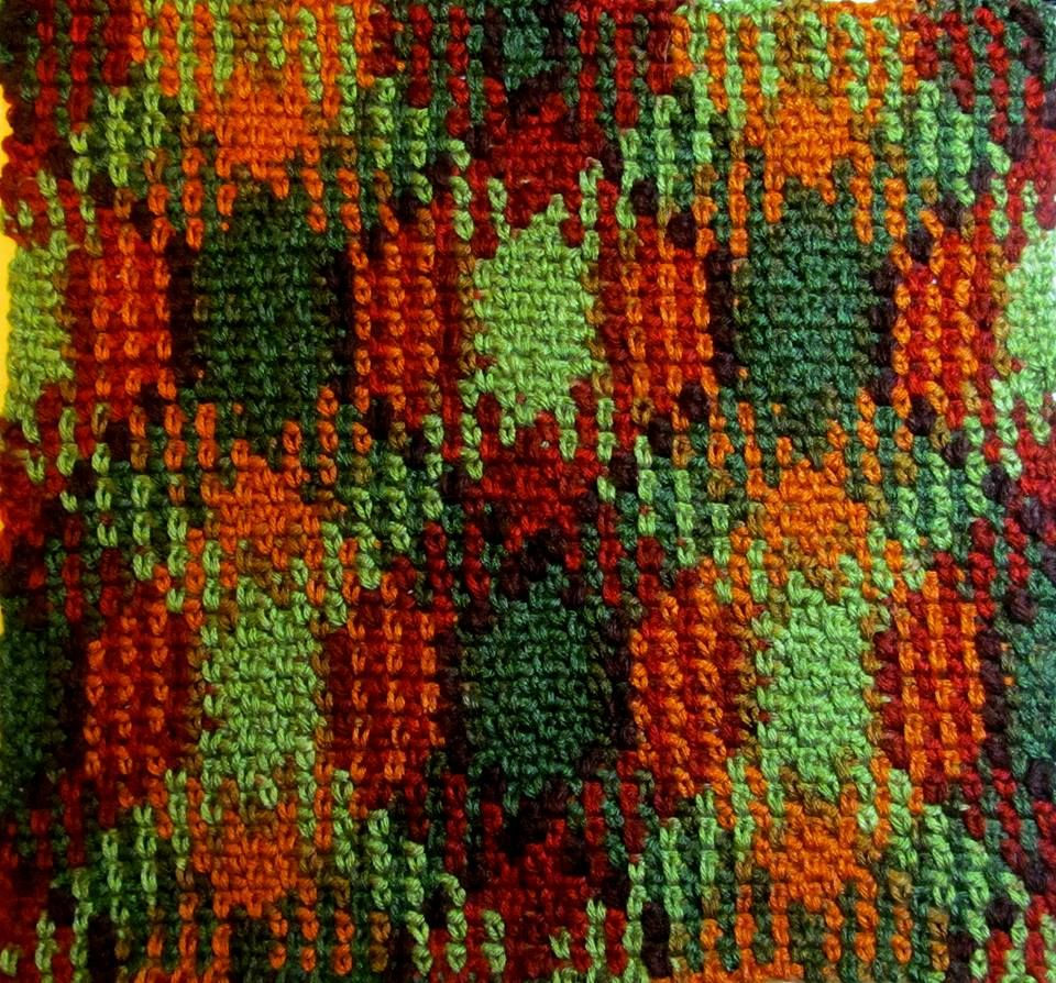 Planned color pooling One ball of Red Heart Super Saver Autumn (Fall ...