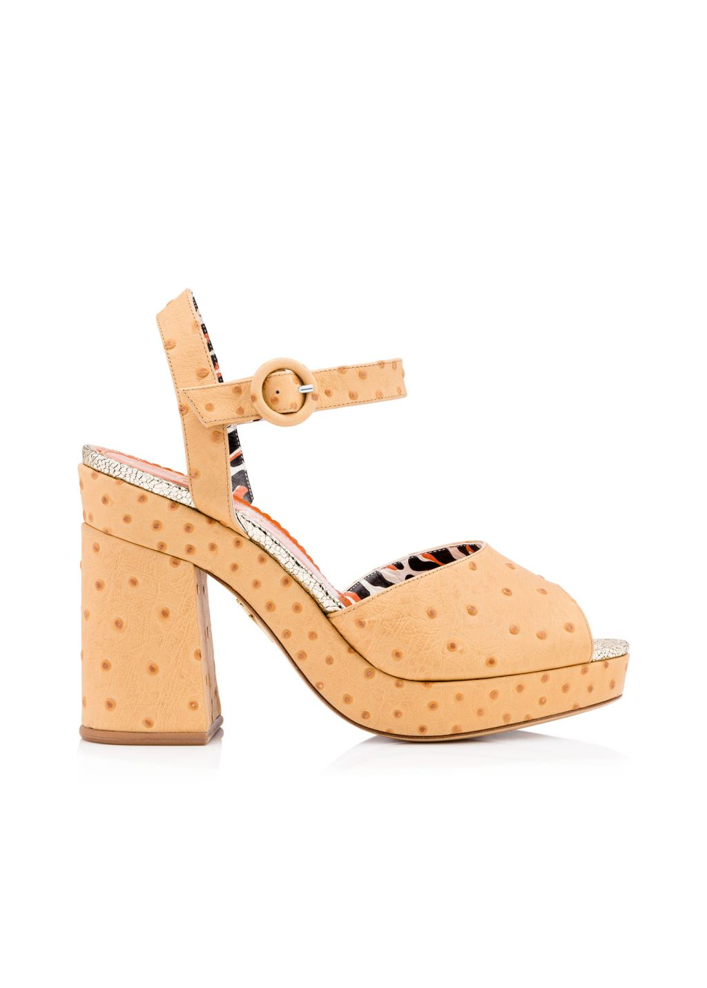 5be751a4e Charlotte Olympia Ostrich Sandal. Nude Heels