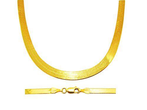 10k Yellow Gold Herringbone Chain Necklace 16 24 Inch 4mm 20 Inches Read More At The I Gold Herringbone Chain Herringbone Necklace Rose Gold Chain Necklace