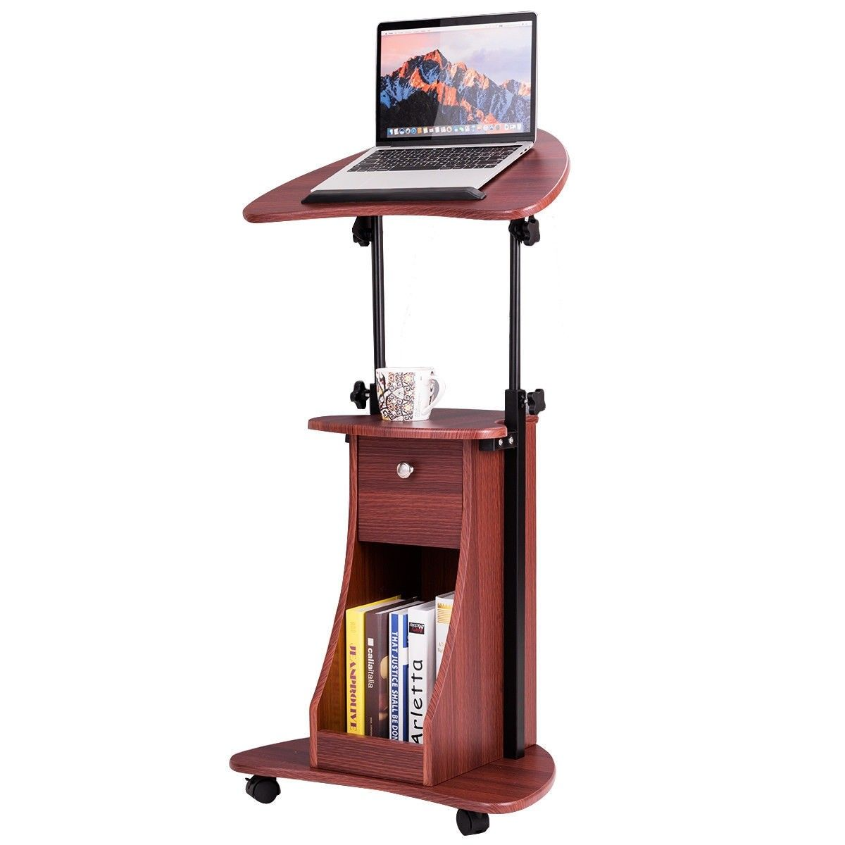 32 To 46 Height Adjustable Tilt Top Laptop Computer Desk Desk Laptop Desk Adjustable Height Desk