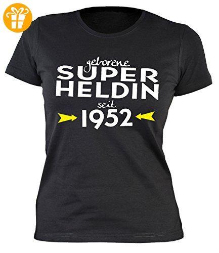 Damen T-Shirt zum Geburtstag: Geborene Super Heldin seit 1952 - Tolle  Geschenkidee -