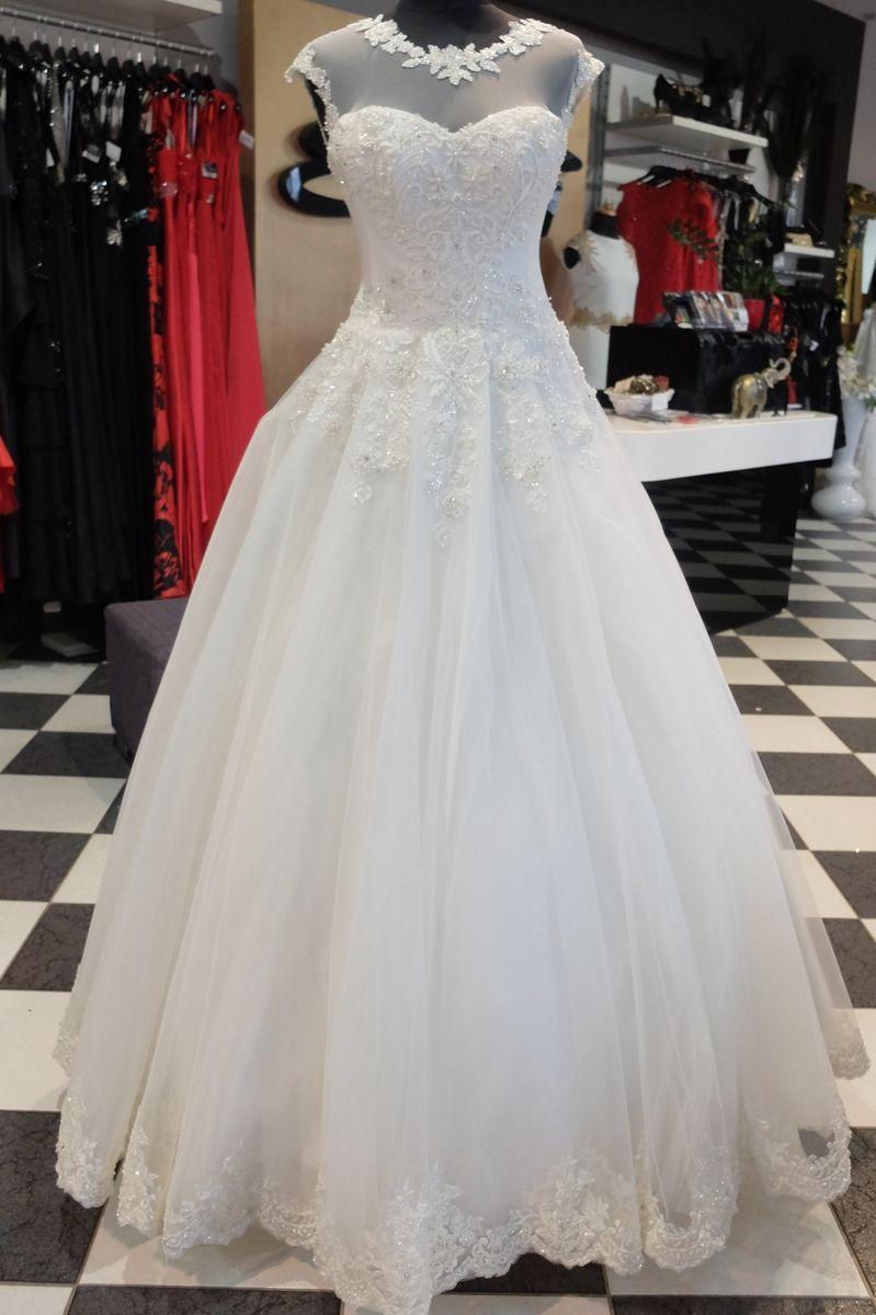 Suknia Slubna Z Przezroczysta Gora P112016 Wedding Dresses Wedding Dresses Lace Dresses