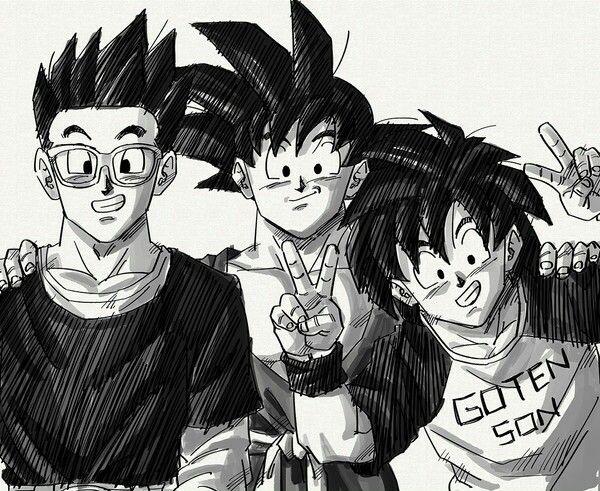 Goku And His Sons All Grown Up Anime Dragon Ball Dragon Ball Goku Dragon Ball