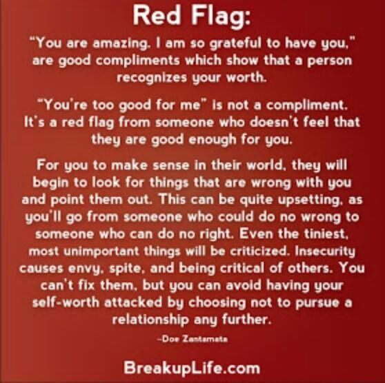 Red Flags Your Dating A Narcissist