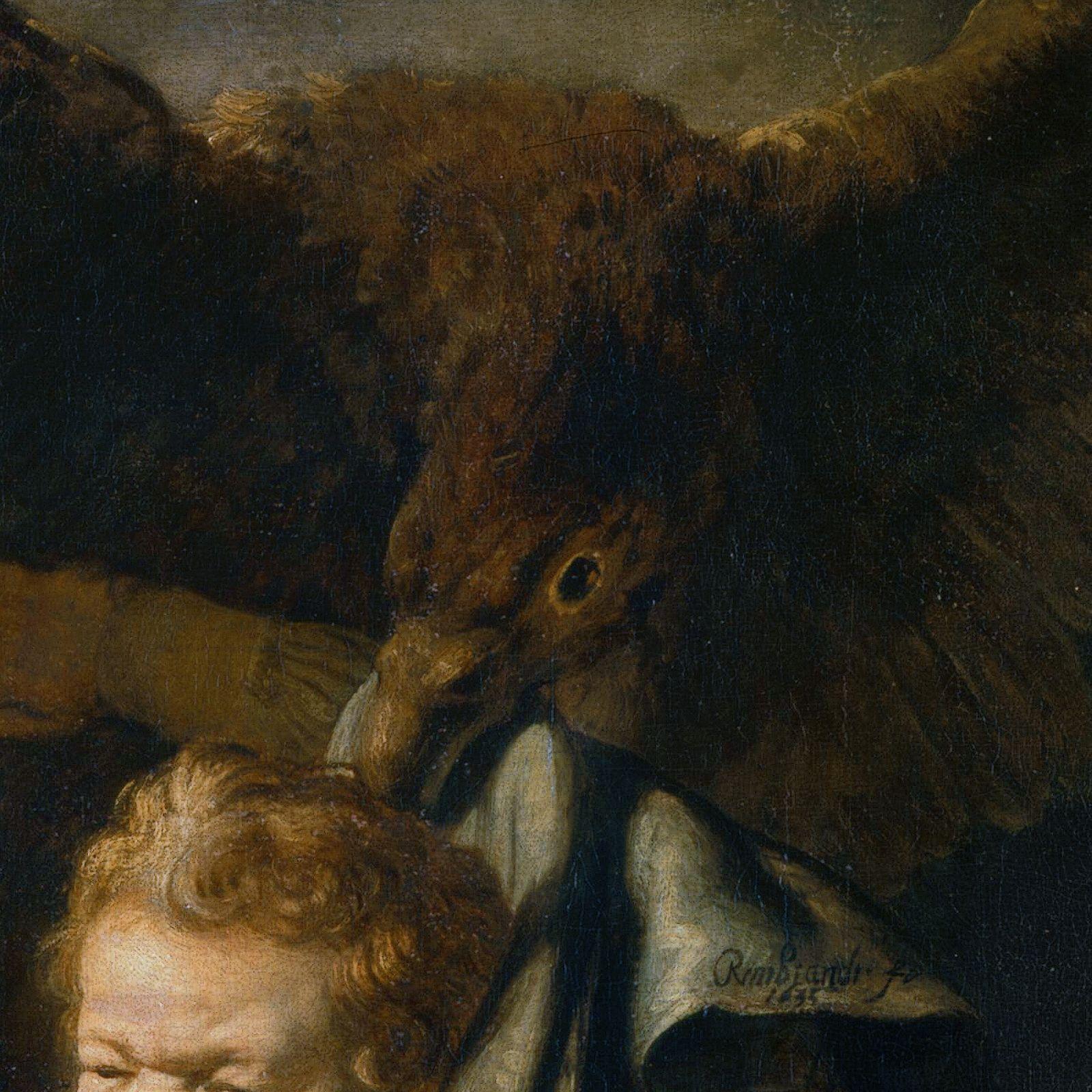 Resultado de imagem para rapto de ganimedes de rembrandt