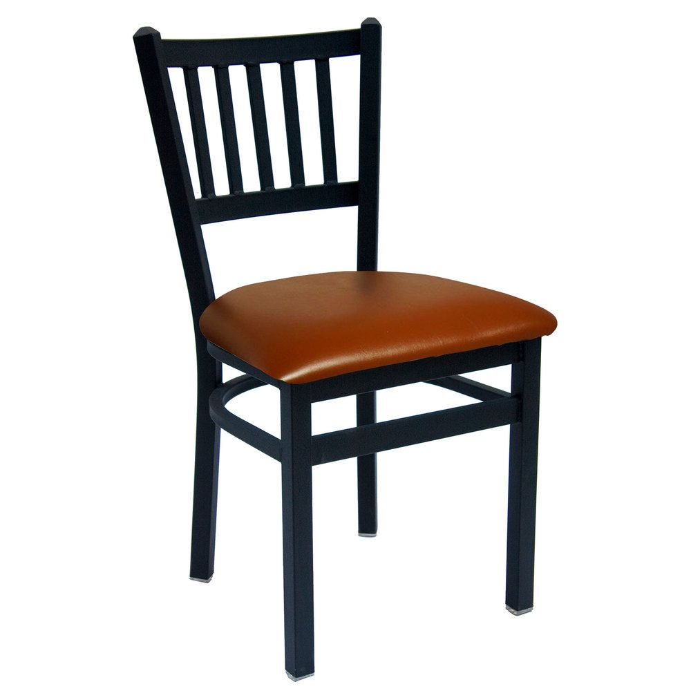 Bfm Seating 2090clbv Sb Troy Sand Black Steel Side Chair With 2 Light Brown Vinyl Seat Side Chairs Metal Chairs Restaurant Chairs