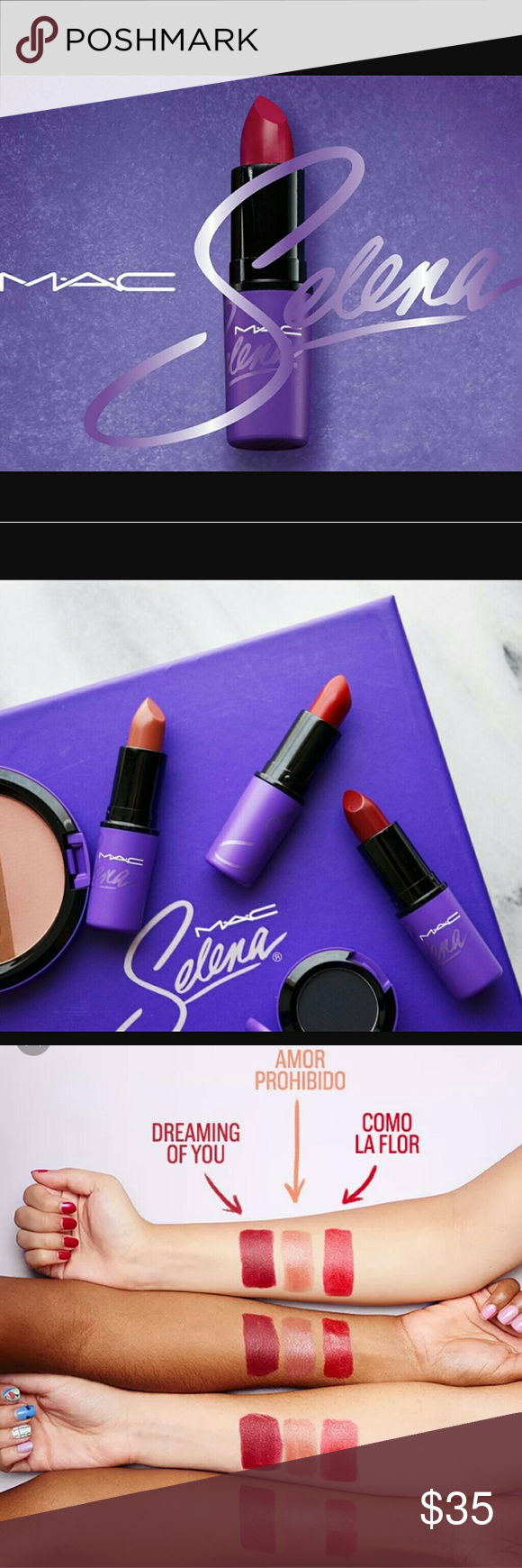 Mac Selena lipsticks Both brand new in box. Instantly sold out. Colors i have are dreaming of you and amor prohibido. Price is each, not both. 100% authentic MAC Cosmetics Makeup Lipstick