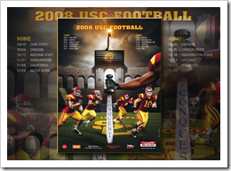 "The 2008 USC football schedule.  The football season that was chronicled in the book ""Always Complete"". #rothzroom"
