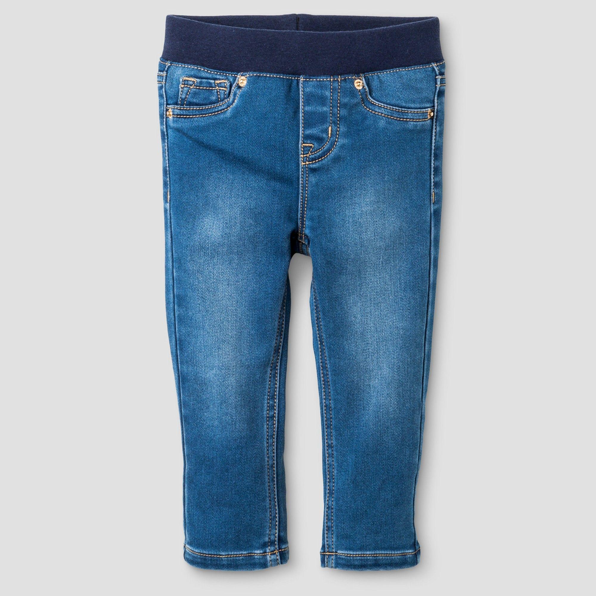 cef28b4587dc Toddler Girls  Jeggings Medium Wash Knit Denim - Cat   Jack Blue 12M ...