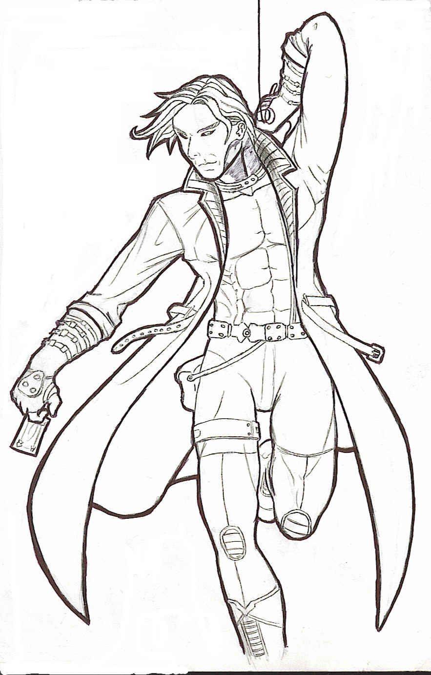 X Treme X Men Gambit By Samurai J On Deviantart Some Favorite Things Comic Drawing X Men Cartoon Drawings