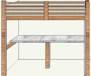 Completed Loft Bed With Desk Loft Bed Plans Loft Bed
