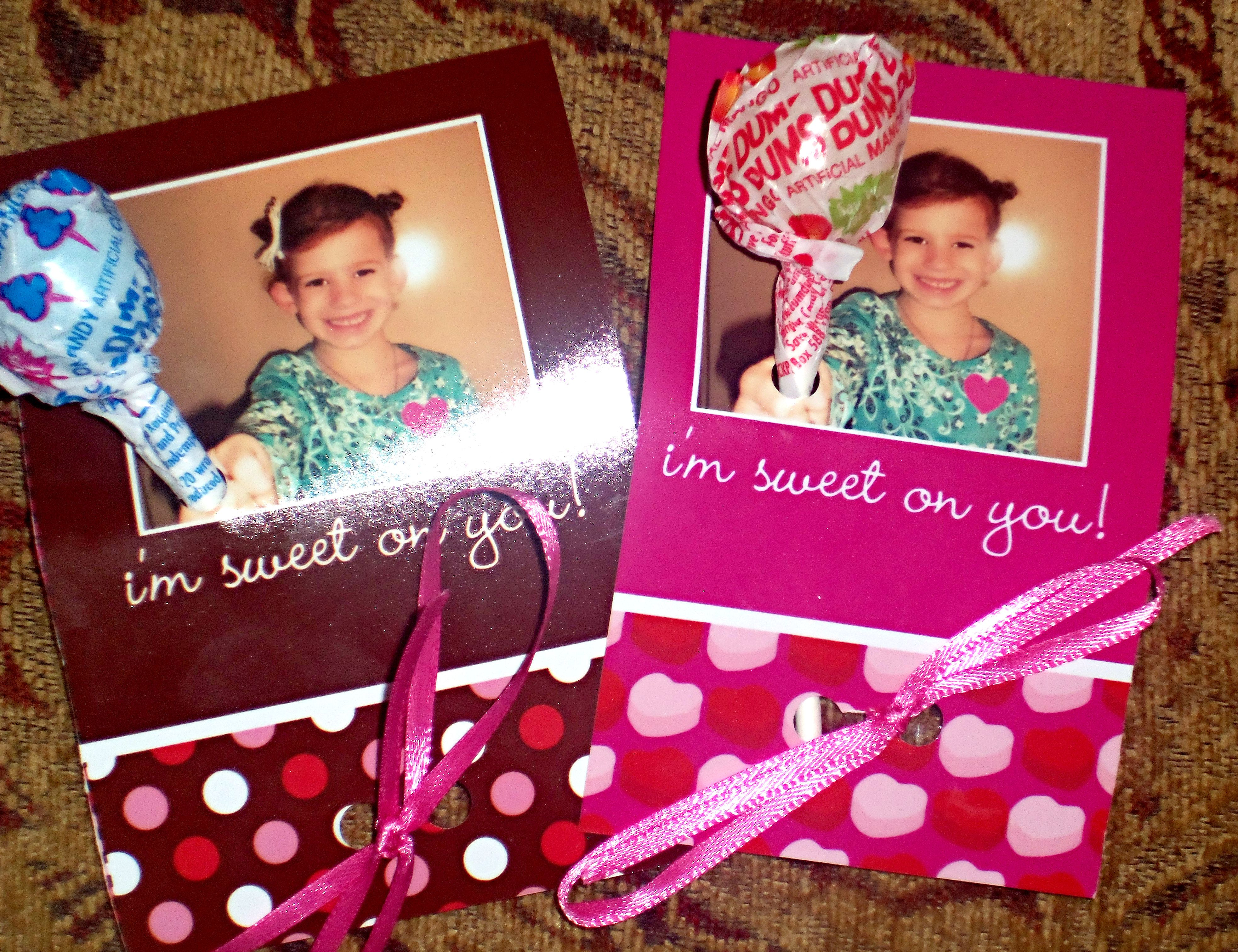 Valentine's Day cards that my daughter took to her kindergarten class party. <3