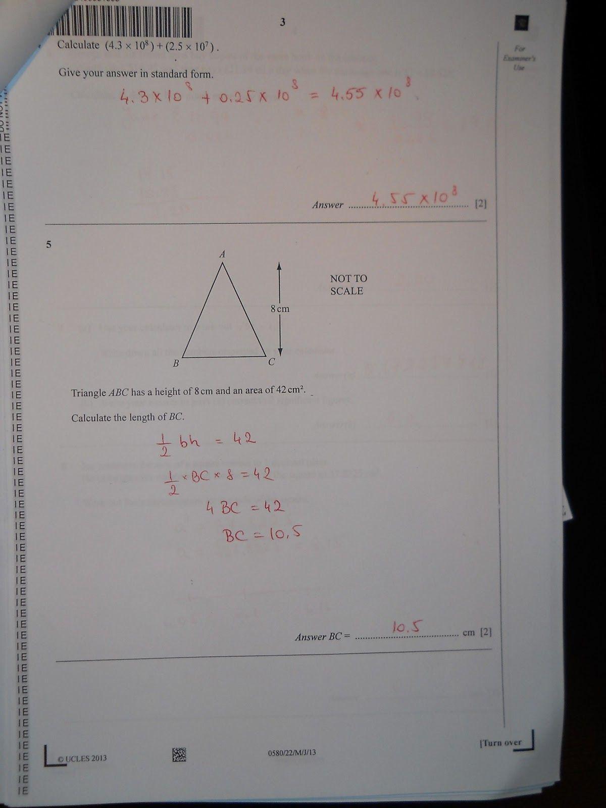 Edexcel igcse mathematics b past papers  Edexcel IGCSE