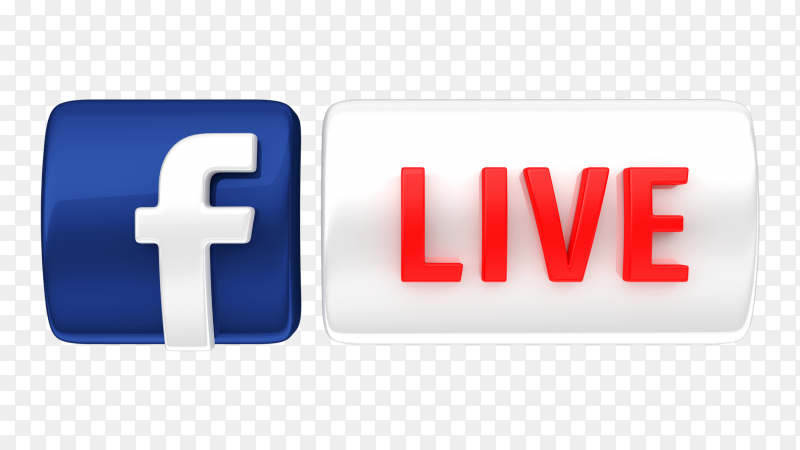 Facebook Live Icon 3d Royalty Free Png In 2021 Logo Facebook Facebook Design Happy Birthday Design