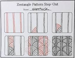 Vibrant image in zentangle patterns step by step printable
