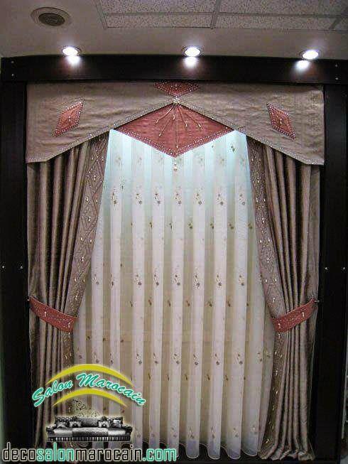 Nouvelle double rideaux occultants 2014 salon marocain moderne 2014 salon marocain rideaux for Voilage pour salon