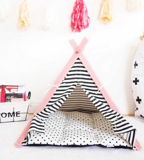 tipi rose tipi pour chien panier pour chien. Black Bedroom Furniture Sets. Home Design Ideas