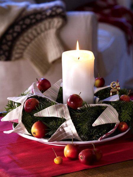 christmas wreaths craft candle light small socks