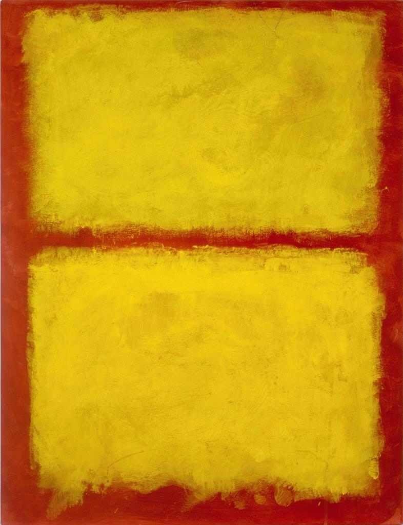"""""""Yellow, Red"""" - Mark Rothko"""