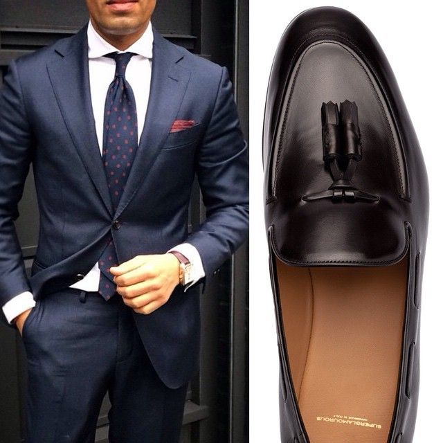 """""""Get this dapper look and FOLLOW @superglamourous Handmade in Italy nappa leather slippers with tassels - SHOP @superglamourous at www.superglamourous.it…"""""""