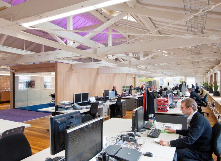 open plan office with exposed ceiling openplanoffice cubiclescom awesome open office plan coordinated