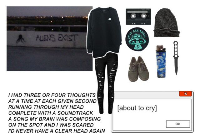 """I brought a gun and as the preacher tried to stop me, hold my heart it's beating for you anyway"" by bloodandglitter ❤ liked on Polyvore featuring Vans, CASSETTE and Element"