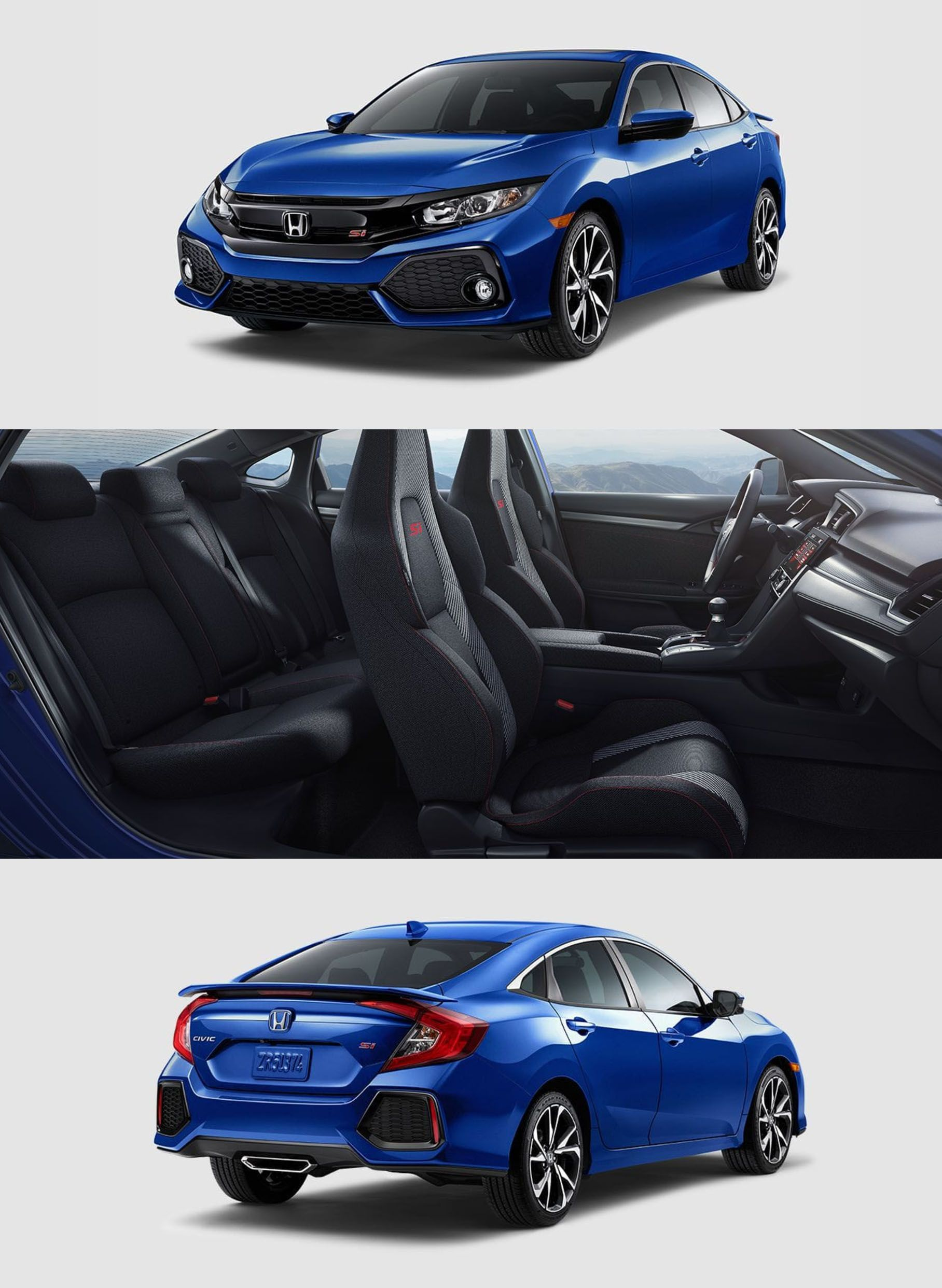 NEW: 2017 Civic Si Sedan 6-Speed Manual, Accessories available at  Partscheap.com