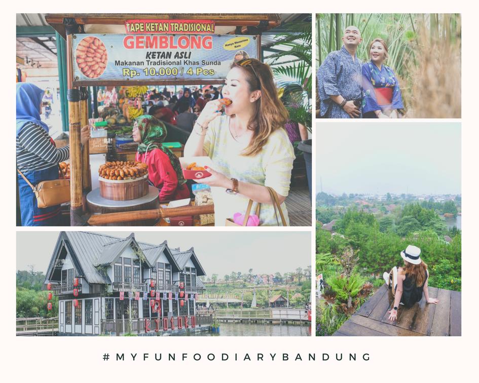 Bandung Kyotoku Mini Town Rainbow Garden Floating Market Lembang Rainbow Garden Lembang Bandung