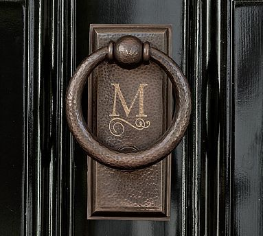 Made Of Substantial Hand Hammered Br Our Door Knocker Pairs A Ring With Simple Stepped Striking Plate