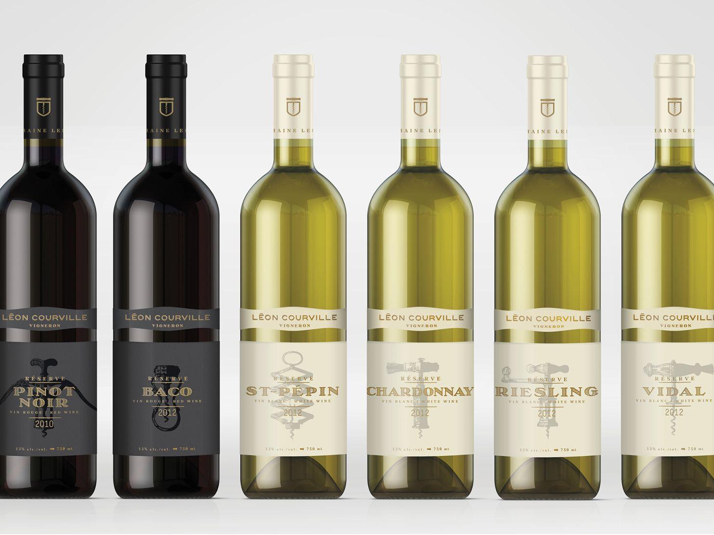 Léon Courville Vigneron — The Dieline - Branding & Packaging