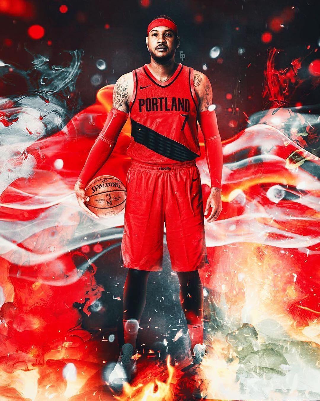 Digitalize Sports Media On Instagram Welcome To Portland Carmelo Anthony Carmelo Anthony Sports Design Inspiration Sports Design
