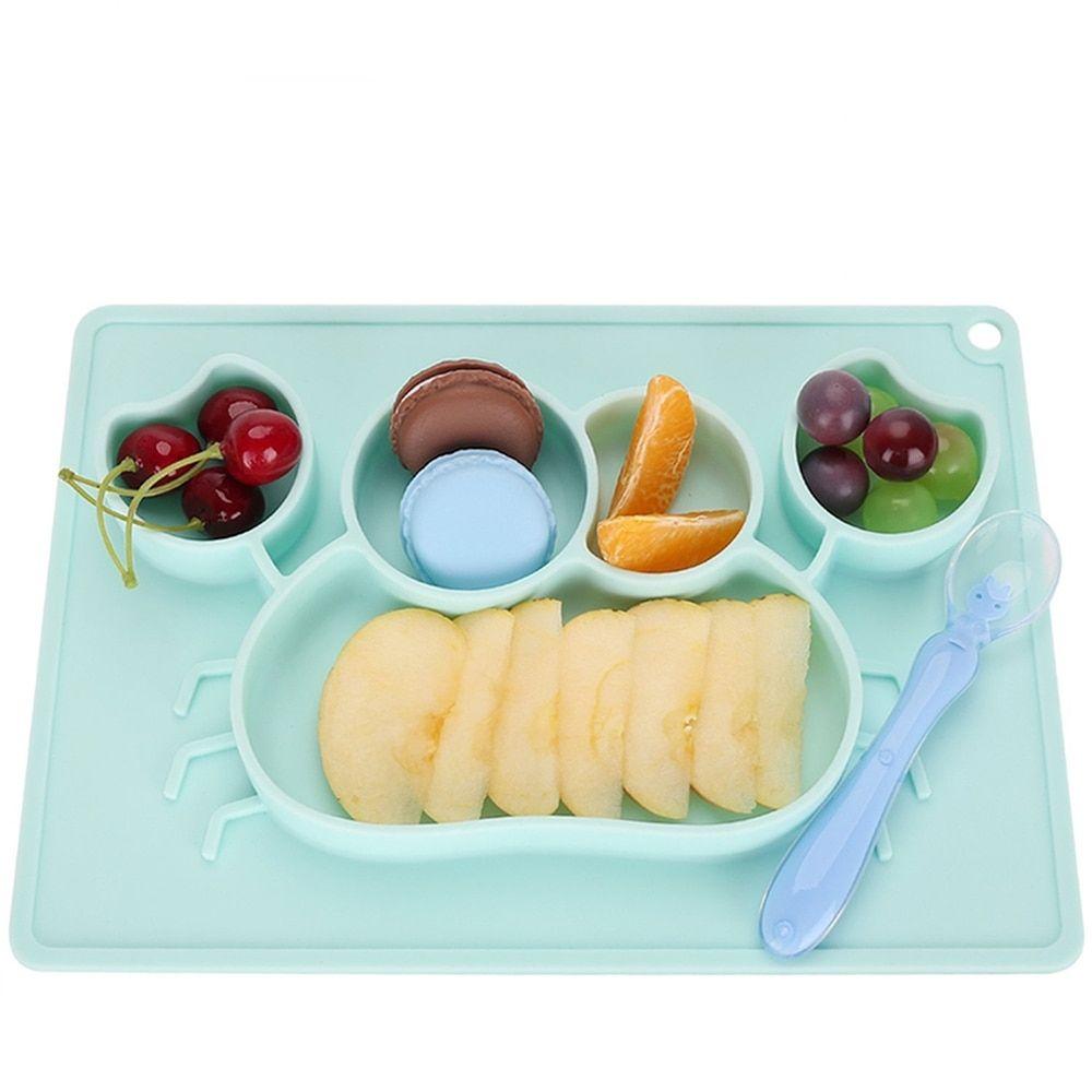 Kids Children Cutlery Plate Dinner Eating Set Spoon Fork Baby Dishes Utensils