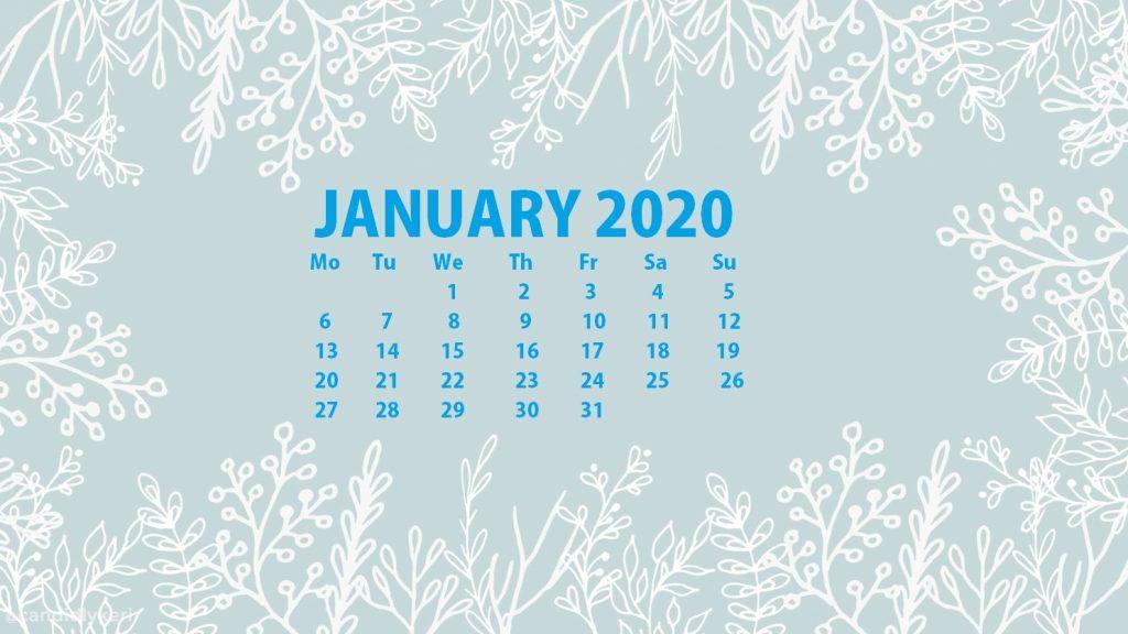 January 2020 Cute Calendar Floral Wallpaper For Desktop Laptop Iphone 2 Desktop Wallpaper Calendar Calendar Wallpaper Desktop Calendar