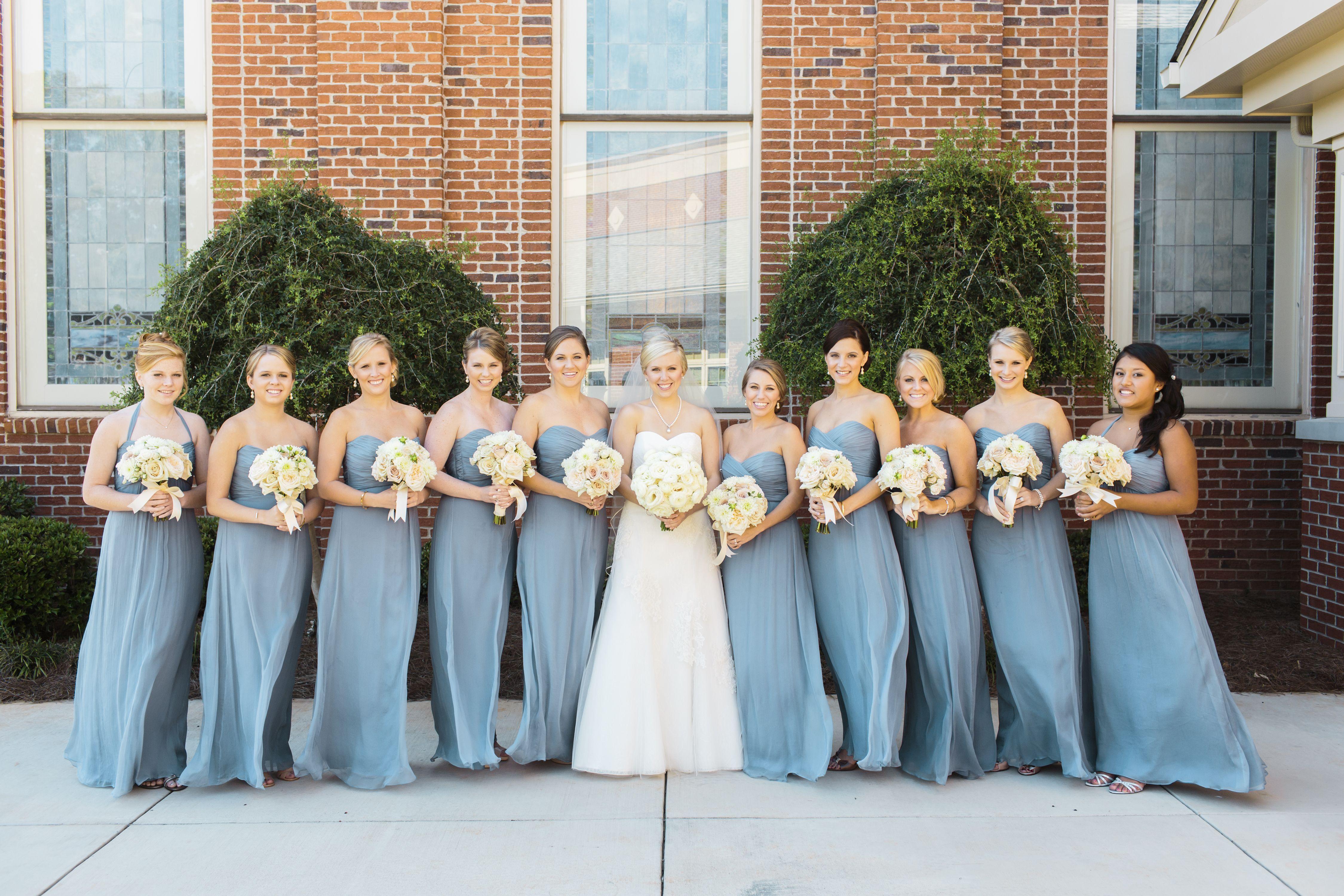 Amsale Slate Bridesmaid Dresses