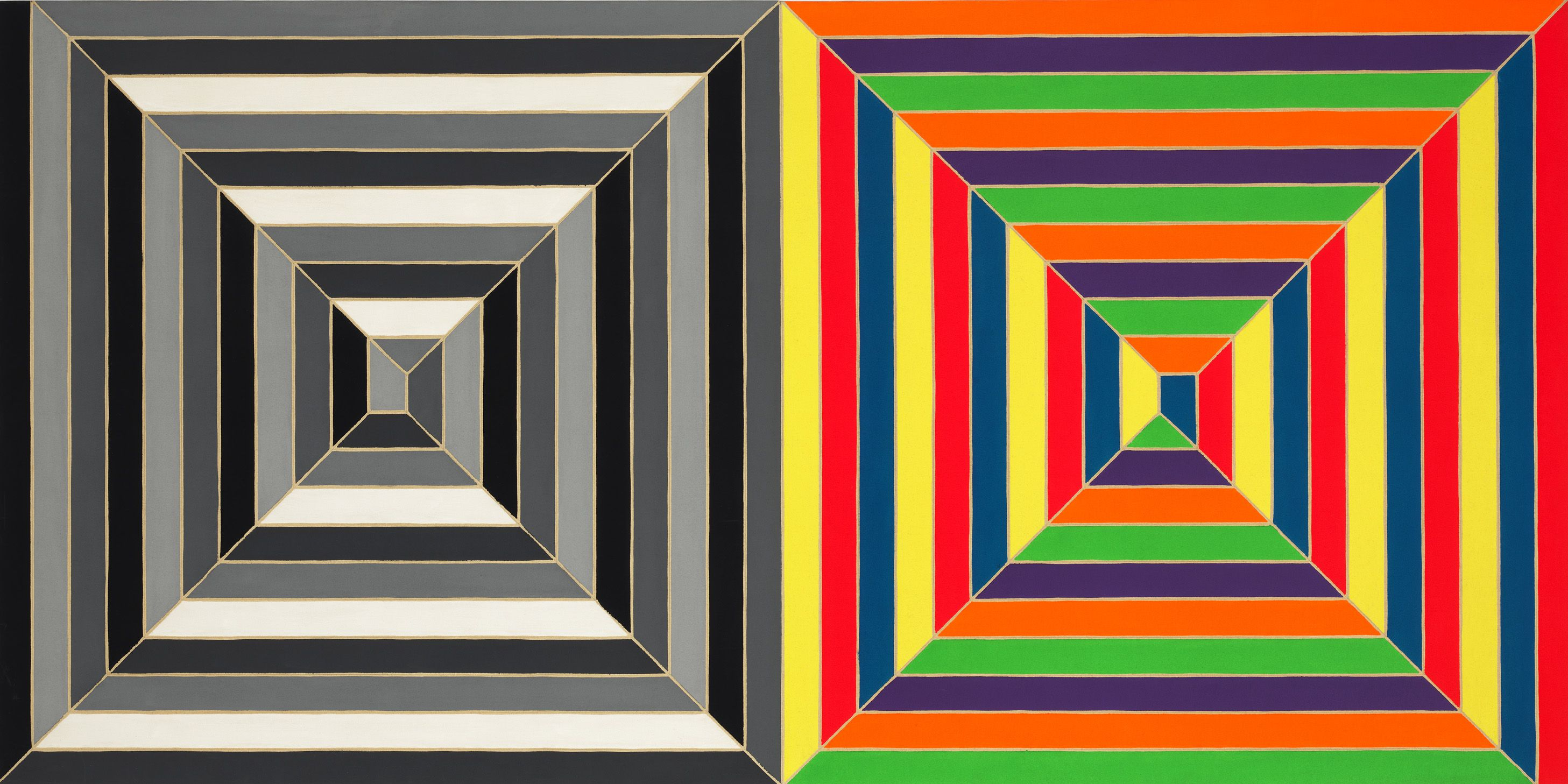 Frank stella_untitled 1966 acrylic and fluorescent alkyd on canvas
