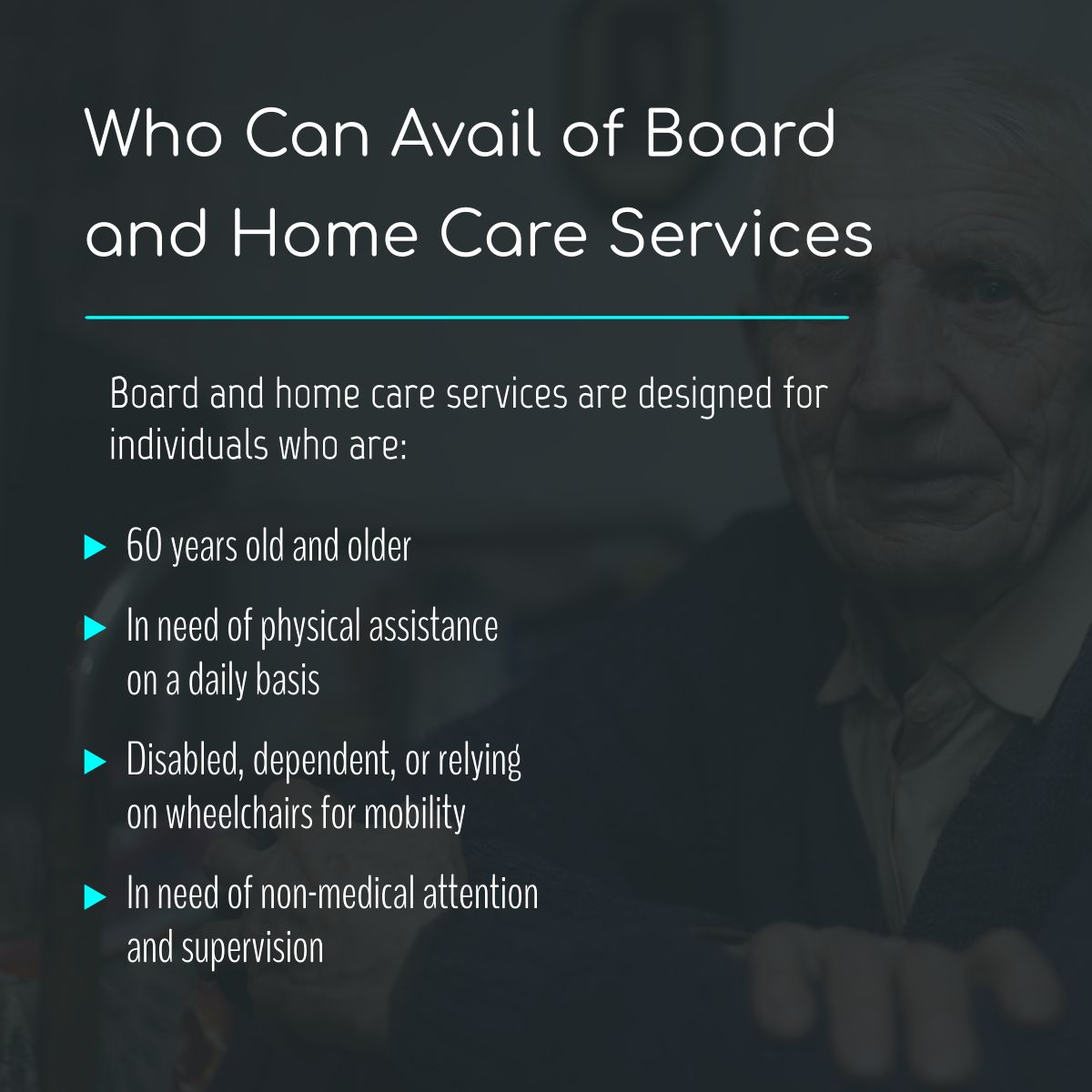 Who Can Avail of Board and Home Care Services SeniorCare